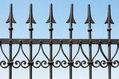 Metal çit — Stok fotoğraf