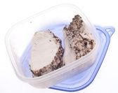 Leftover Slices of Spice Rubbed Pork — Stock Photo