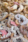 Variety of Fresh German Pretzels — Stock Photo