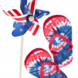 Patriotic Pinwheel and Flip Flop Sandals — ストック写真