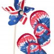 Patriotic Pinwheel and Flip Flop Sandals — Стоковая фотография