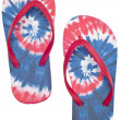 Stock Photo: Tie Dye Flip Flop Sandals