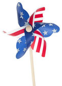 Patriotic Red White and Blie Pinwheel — Stock Photo