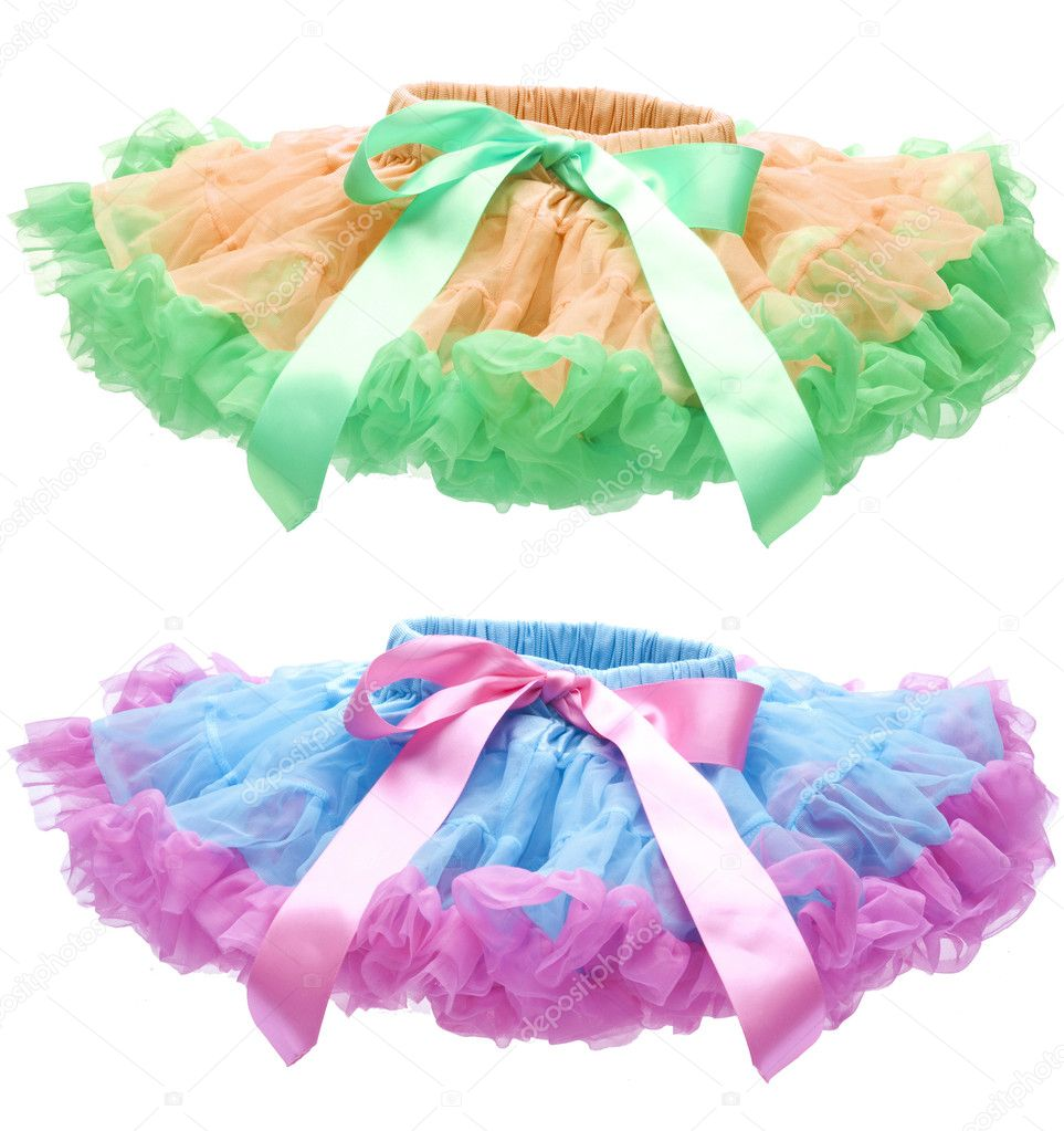 Blue and Pink Pettiskirt or Tutu Isolated on White with a Clipping Path. — Stock Photo #6067935