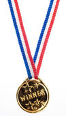 Altın metal kazanan şerit — Stok fotoğraf