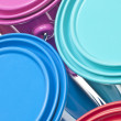 Paint Can Close Up Colorful Background — Stock Photo