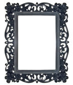 Black Floral Ornate Frame — Stock Photo