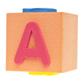 Letter A on Foam Block — Stock Photo