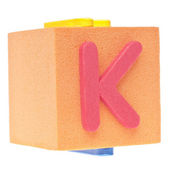 Letter K on Foam Block — Stock Photo
