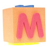 字母 m 的泡沫块 — 图库照片