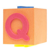 Letter Q on Foam Block — Stock Photo