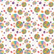 Candy Seamless Wallpaper Background — Stock Photo