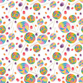 Candy Seamless Wallpaper Background — 图库照片
