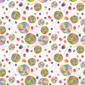 Cukierki bez szwu tapeta tło — Zdjęcie stockowe