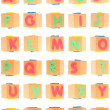 Alphabet Set on Foam Blocks - Stock Photo
