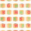 Stock Photo: Alphabet Set on Foam Blocks