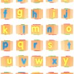 Alphabet Set on Foam Blocks — Stock Photo