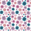 Muted Colors Seamless Flower Background — Stock Photo