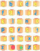 アルファベットの発泡スチロールに設定 — ストック写真