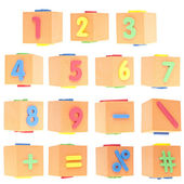 Set of Numbers and Symbols — Stock Photo