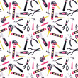 Foto Stock: Pink and Black DIY Tools Seamless Background Pattern