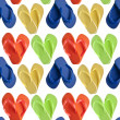 Flip Flop Sandals in Heart Shapes Seamless Background - Stock Photo