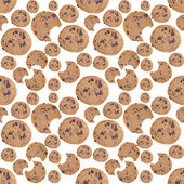Chocolate Chip Cookie Seamless Background — Stock Photo
