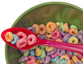 Vibrant Bowl with Breakfast Cereal — Stock Photo