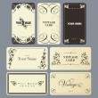 Vintage card set. — Stock Vector