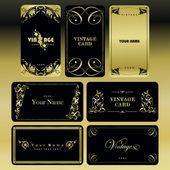 Vintage card set. — Stock Vector