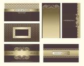 Conjunto de tarjeta vintage. — Vector de stock