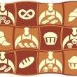 Bread set of vector icons - Stock Vector