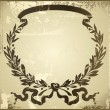 Old laurel wreath - Stock Vector