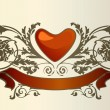 Love card. The valentine's day — Imagen vectorial