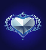 Diamante de corazón — Vector de stock