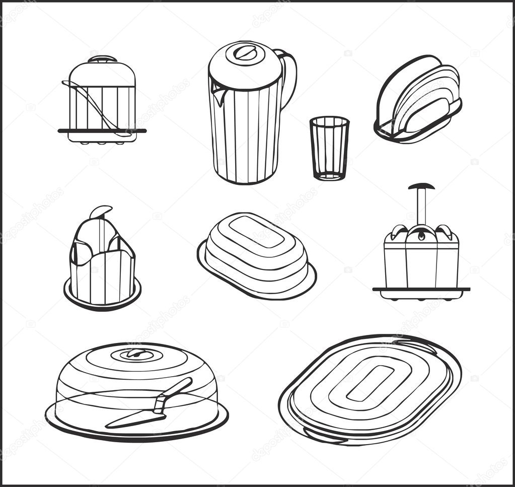 Coloring Pages Of Kitchen Items. Trendy Kitchen Utensils Coloring Pages 1023  x 967 173 kB jpeg Design Gallery Vintage