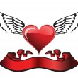 Winged heart — Stock Vector