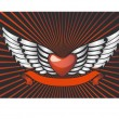 Stock Vector: Winged heart