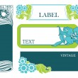 Set of vector labels in art nouveau — Imagen vectorial