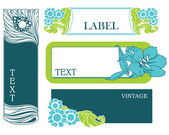 Set of vector labels in art nouveau — Vector de stock