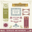 Set of vector labels in art nouveau — Stockvector #5907912