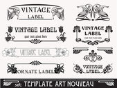 Set of vector labels in art nouveau — Stockvector