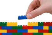 Lego wall — Stock Photo