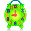 图库照片: Colorful toy clock.