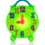 多彩玩具时钟 — 图库照片