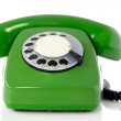 Green retro telephone. — Stock Photo