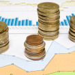 Coins and business charts — Stock Photo #6090753