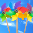 Stock Photo: Three color pinwheel