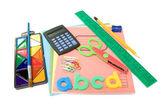 Collection of school stuff — Stock Photo