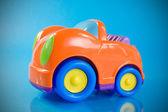 Orange auto spielzeug — Stockfoto